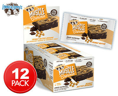 12 x Lenny & Larry's The Muscle Brownie Peanut Butter 65g