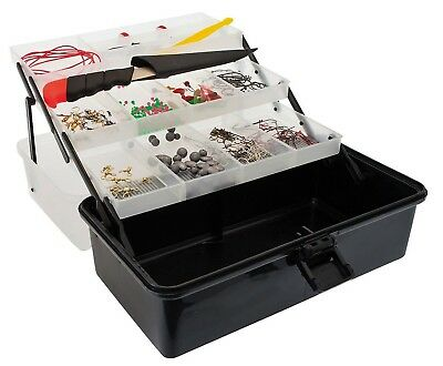 Jarvis Walker 3 Tray Fishing Tackle Box With 500 Pieces Of Tackle - Tackle Kit