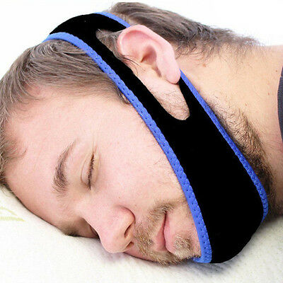 Anti Snore Chin Strap Care Sleep Stop Snoring Belt Chin Jaw Supporter Apnea Belt