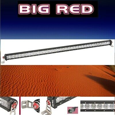 "Big Red LED Single Row Light Bar 40"" (1016mm) 8400 Lumen 36 x 3W Combo beam BR91"