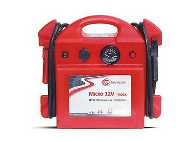 Jump Starter Sos Booster Micro 12V-700Ca Motobike F80 Clamps