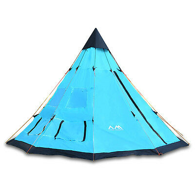 12x12' 6 Person Teepee Tent Tipi Family Outdoor Camping Hiking Survival Trail