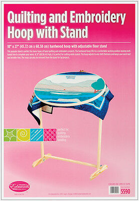 Wood Hoop & Floor Stand-
