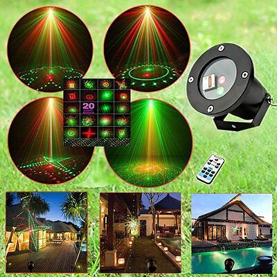 24 Patterns Outdoor Laser Christmas Light Show  Projector Remote Controller