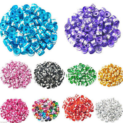 200Pcs Aluminum Tube Spacer Beads For Charms Bracelet Jewelry DIY 6x4mm