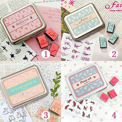 Hot Selling Universal Decoration Lovely DIY 12pcs Rubber Stamp SN