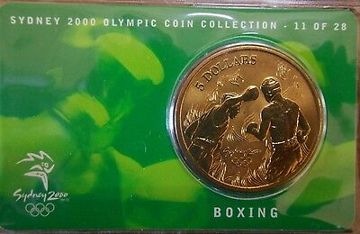 """2000 Australian Sydney Olympic $5 Coin """" BOXING """" # 11 of 28 No Outer Sleeve"""