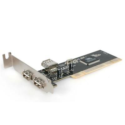 StarTech PCI220USBLP 3 Port PCI Low Profile High Speed USB 2.0 Adapter Card