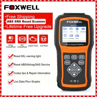 Foxwell NT630 Automotive OBD2 Scanner ABS SRS SAS Airbag Reset Diagnostic Tool