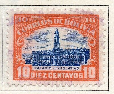 Bolivia 1916 Early Issue Fine Used 10c. 096595
