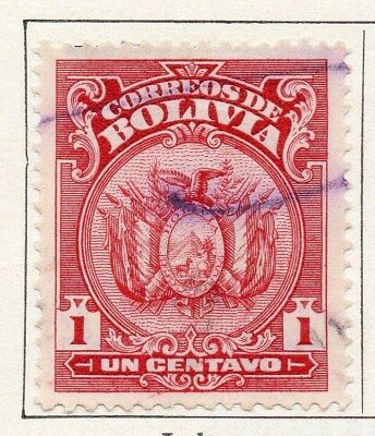 Bolivia 1919-23 Early Issue Fine Used 1c. 096596
