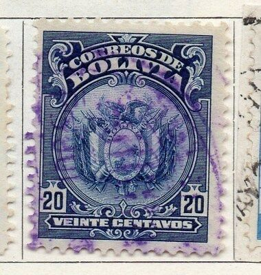 Bolivia 1919-23 Early Issue Fine Used 20c. 096600