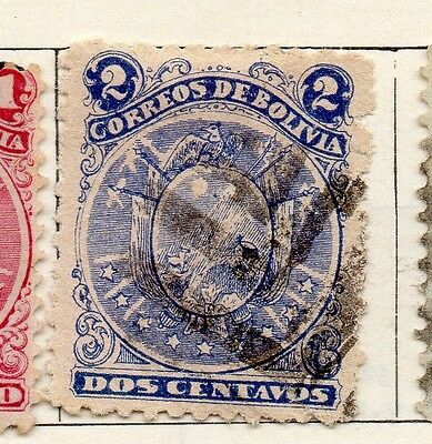 Bolivia 1890 Early Issue Fine Used 2c. 096622