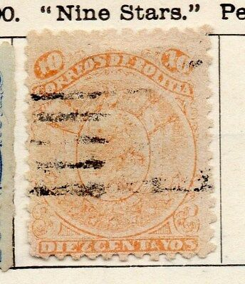 Bolivia 1890 Early Issue Fine Used 10c. 096624
