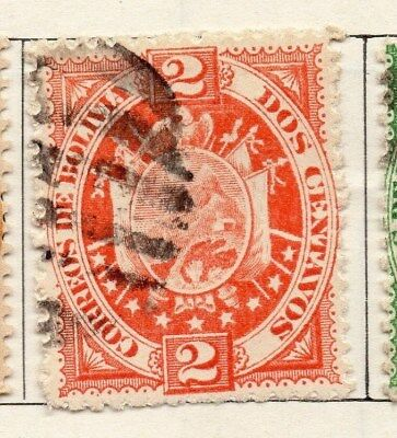 Bolivia 1894 Early Issue Fine Used 2c. 096627