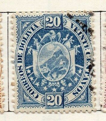 Bolivia 1894 Early Issue Fine Used 20c. 096630