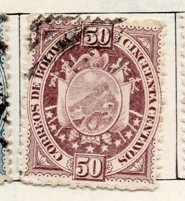 Bolivia 1894 Early Issue Fine Used 50c. 096631