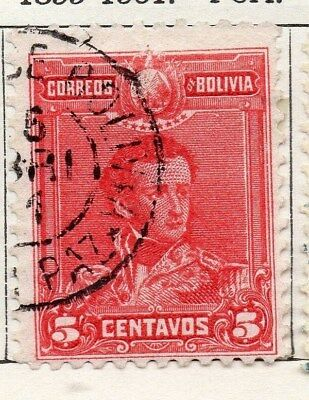 Bolivia 1899-1901 Early Issue Fine Used 5c. 096639