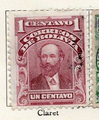 Bolivia 1901-04 Early Issue Fine Used 1c. 096643