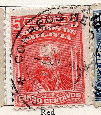Bolivia 1901-04 Early Issue Fine Used 5c. 096645
