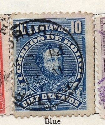 Bolivia 1901-04 Early Issue Fine Used 10c. 096646