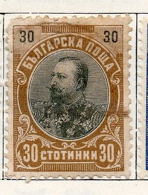 Bulgaria 1902 Early Issue Fine Used 30st. 096766