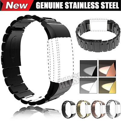 New Genuine Stainless Steel Bracelet Watch Band Wrist Strap For Fitbit Charge 2