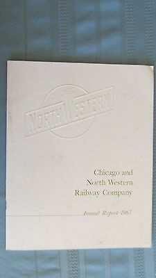 Chicago & North Western Railway 1967 Annual Report-Equipment-Maps-Finances