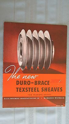 Original 1935 Duro-Brace Texsteel Sheaves Brochure-Allis Chalmers Company