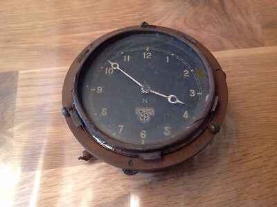 Antique Vintage Smiths Car Clock For Resporation Repair Or Collecting