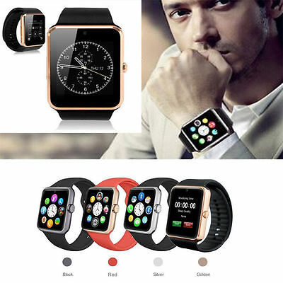 GT08 Bluetooth Smart Watch NFC For HTC Samsung iPhone iOS Camera SIM Slot - Sale
