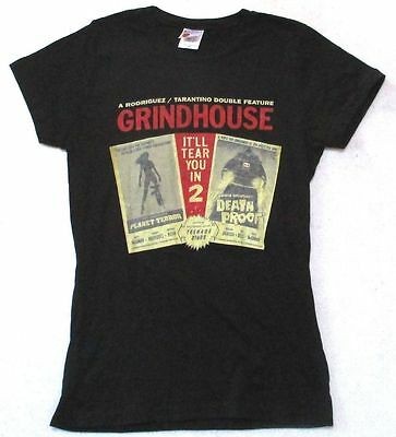 Grindhouse Double Feature Death Proof Planet Terror Girls Black Shirt New