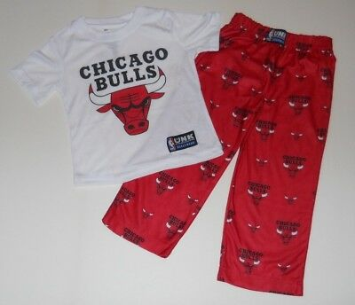 NWT NBA CHICAGO Bulls Boys Basketball Lounge Pants T-shirt Pajama ... 891036ea9e5f