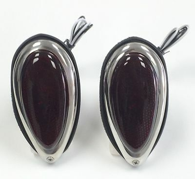 Hot Rod 1938-39 Ford Tear Drop Tail Lights W/ Red Glass Lens Pair