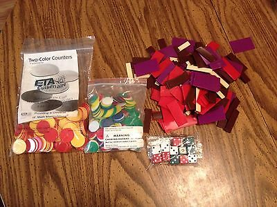Cuisenaire Two-colored counters math dice fraction Math Manipulative shapes