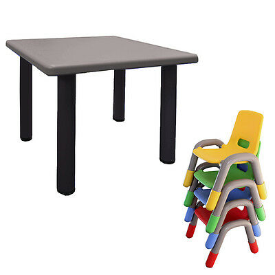 Kids Toddler Table  Chair Plastic Activity Indoor Outdoor 4 Colors Toddler