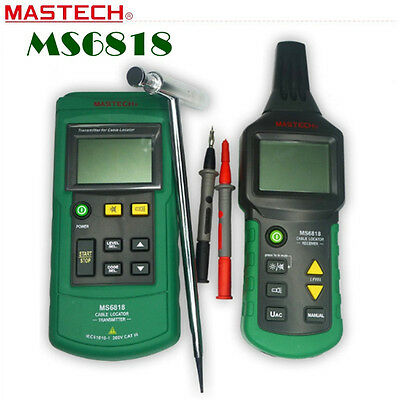MASTECH MS6818 Professional Wire Cable Tracker Metal Pipe Locator Detector Test