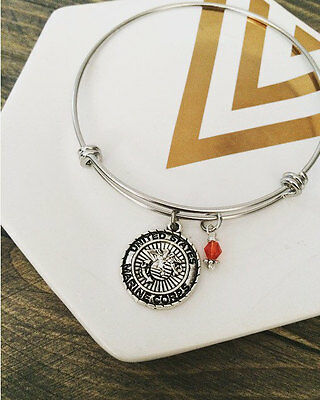 7inch-8inch United States Marine Corps Bangle Stainless Steel Bracelet