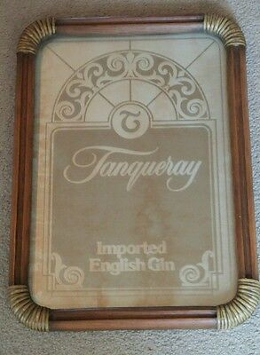 Rare Vtg Tanqueray Gin Advertising Mirror