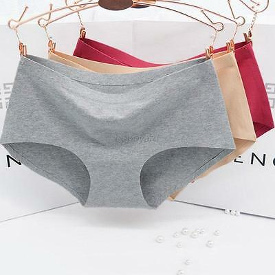 Women Cozy Natural Cotton Panties Seamless Invisible Underwear Briefs knickers