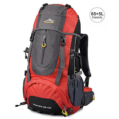 Vbiger Hiking Camping Backpack Outdoor Mountain Climbing Daypack 65L+5L