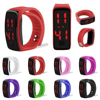 Touch Screen LED Watch Sports Silicone Digital Wristwatch For Men&Ladies&Child