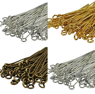 50Pcs Golden Silver Head/Eye/Ball Pins Finding 21 Gauge Any Size New