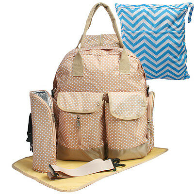KF Baby Large Travel Backpack Diaper Bag Changing Pad Tote Shoulder Straps Gear