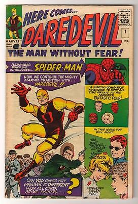 Marvel Comics DAREDEVIL Cent  FN- 5.0  Issue 1 original yellow Costume