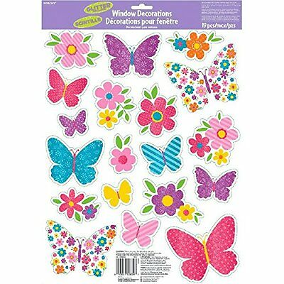 Window Cling Decorations amscan vinyl window cling decorations spring • $9.01 - picclick