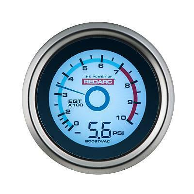 Redarc G52-Bep Egt & Boost Pressure 52Mm Gauge  Optional Oil Pressure Display
