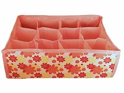 Baby Kids Bedroom Clothing Drawer Storage Organizer Boxes (Pink)