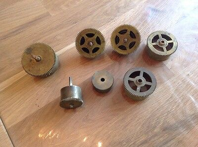 ANTIQUE CLOCK Spring Cases Parts  Spares  7 Pieces