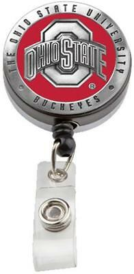 Ohio State pewter retractable badge reel